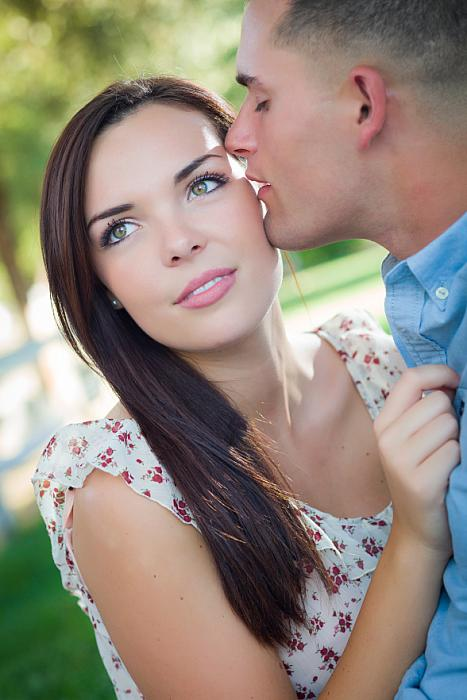 kozzi-mixed race romantic couple portrait in the park-588x883 (1)